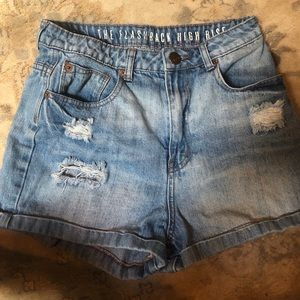 The Flashback High Rise Denim Shorts